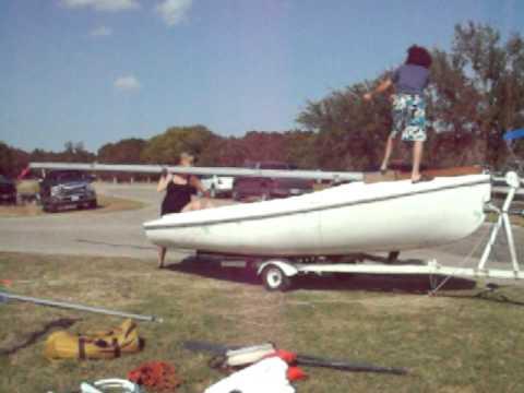 Rebel16 sailboat stepping mast youtube rebel16 sailboat stepping mast publicscrutiny Images