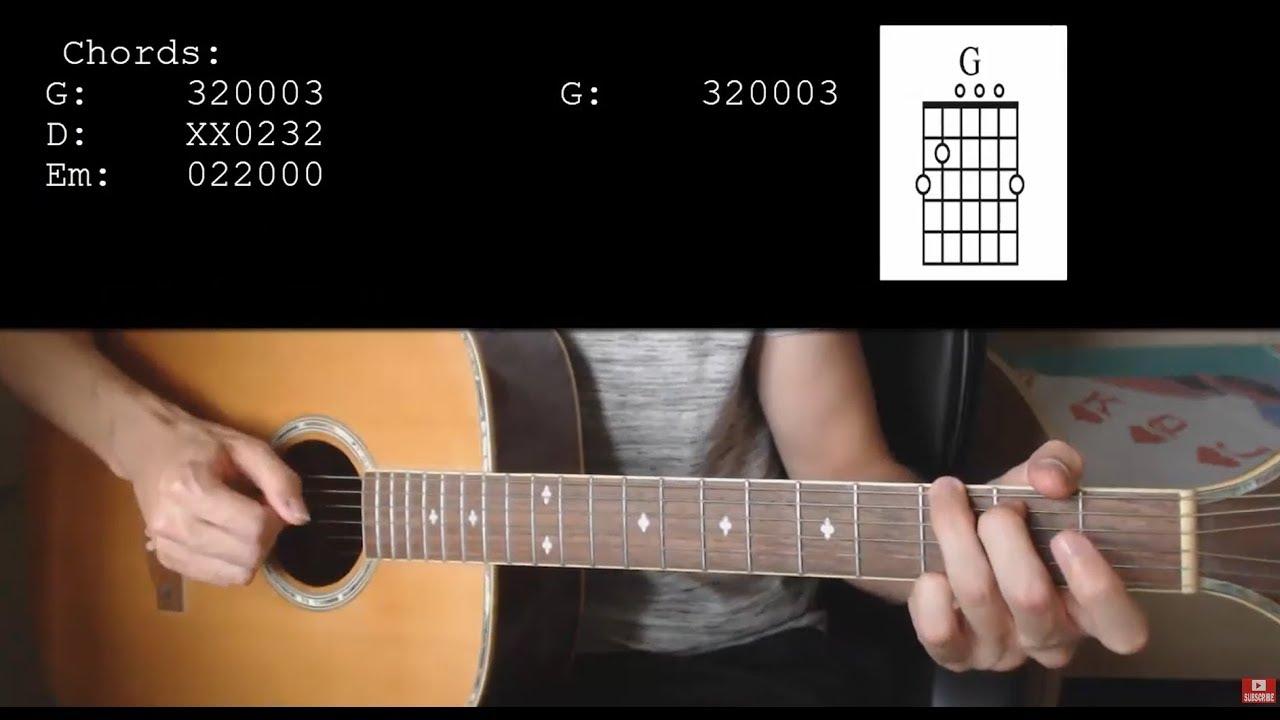 bts v winter bear easy guitar tutorial with chords