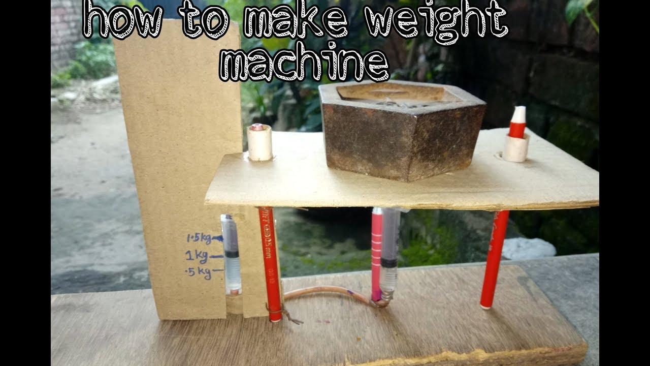 How to make weight machine