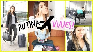 TRAVEL ROUTINE! (MAKEUP, OUTFIT, BAG)