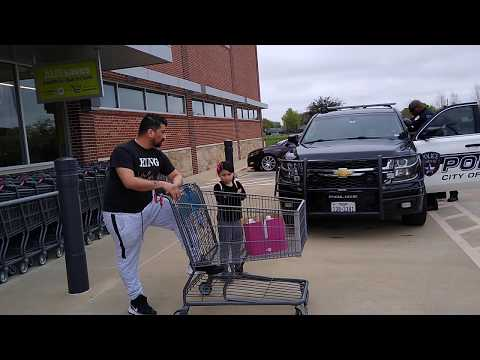 Corinth, TX PD Trespassing A Guy For Buying 2 Gallons Of Water At Aldis