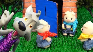 The Three Little Pigs & the Big Bad Wolf ! Toys and Dolls Fun Story for Kids