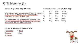 Publication Date: 2021-09-29   Video Title: 2021-22 1st Term P3 Dictation
