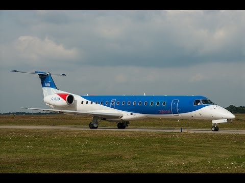 BMI Regional Embraer ERJ-145 G-RJXA @ Blackpool Airport