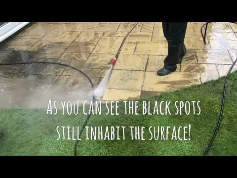 Patio steam cleaning, pressure washing & patio black spot removal service, kingswood Surrey