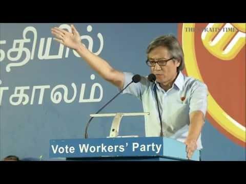 Workers' Party rally @ Serangoon Stadium