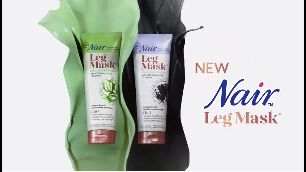New Nair Leg Mask 100 Natural Clay Youtube