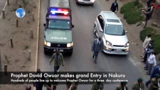 Prophet Owuor makes grand entry in  Nakuru