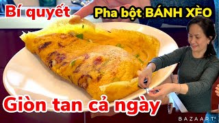 Bí quyết pha bột bánh xèo bằng sữa đậu nành, thơm, béo, giòn cả ngày luôn !