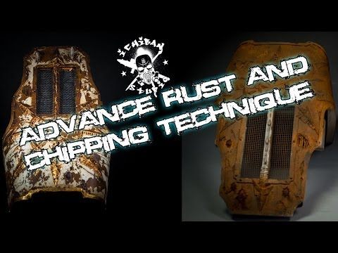 Advance rust and chipping technique
