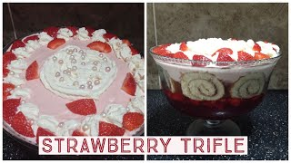 Quick Easy Strawberry Trifle