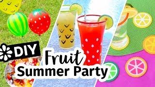 DIY Fruit Theme Summer Backyard Party | Sea Lemon