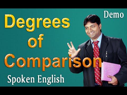 Spoken English through Telugu - Degrees of Comparison - DEMO