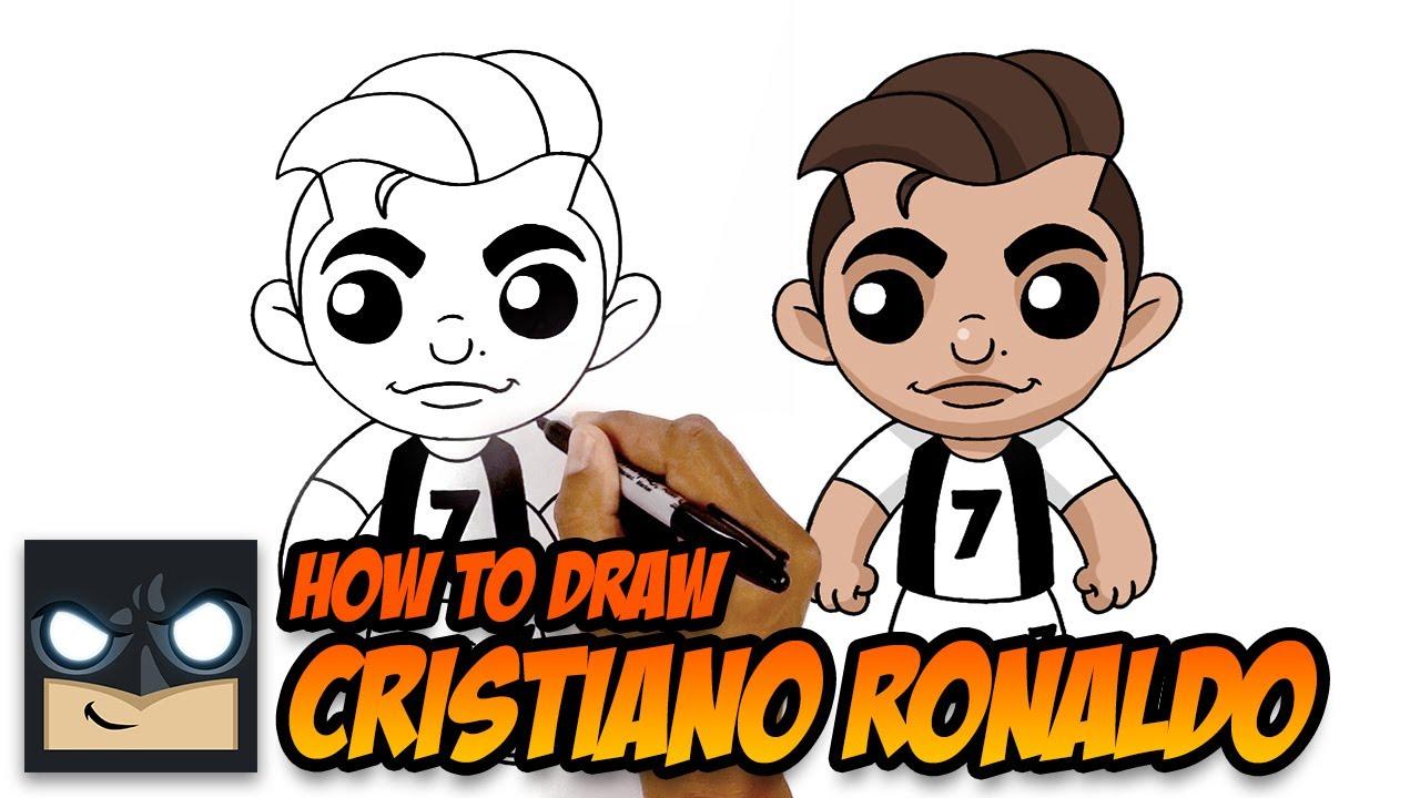 How To Draw Ronaldo Step By Step Tutorial Youtube