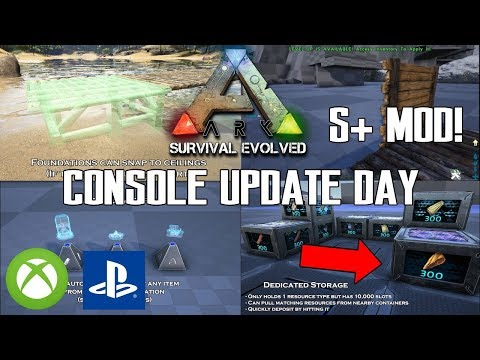 ARK CONSOLE UPDATE DAY! - S+ MOD IS HERE! - NEW DINO CHANGES AND MORE! - XBOX/PS4
