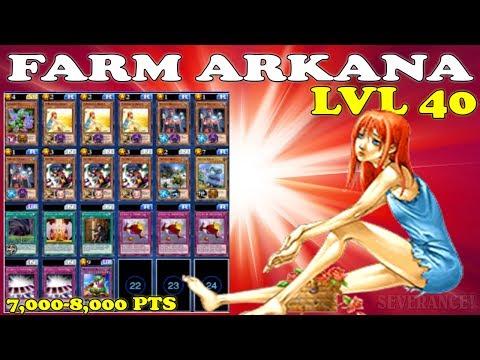 FARM ARKANA LVL 40 COM MUITA EFICIÊNCIA - YU-GI-OH! DUEL LINKS