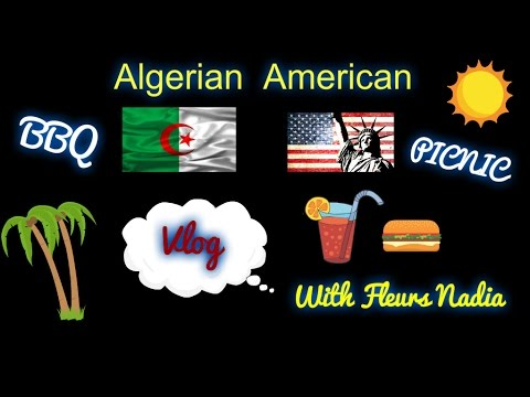 Vlog # Algerian American BBQ & PICNIC NEW YORK  MAY  2016