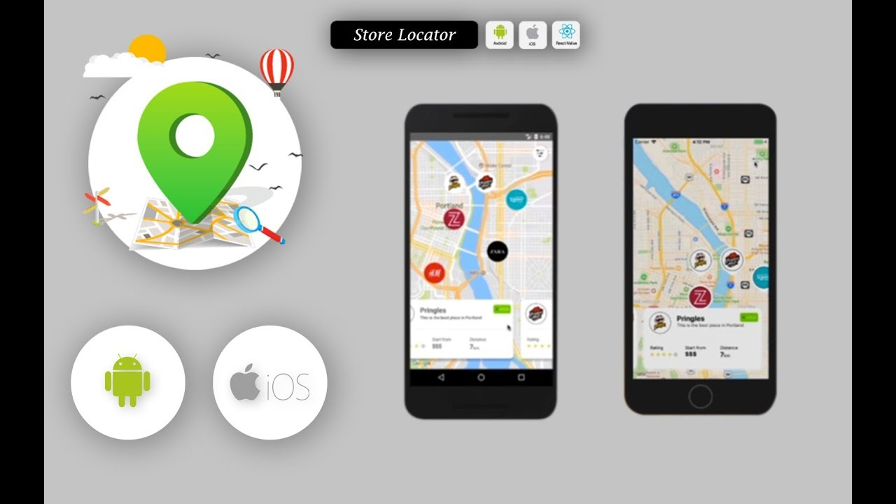 demo store locator complete react native template for ios and android youtube. Black Bedroom Furniture Sets. Home Design Ideas