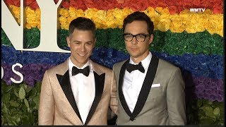 Jim Parsons, Todd Spiewak arrive at 2019 Tony Awards Red Carpet