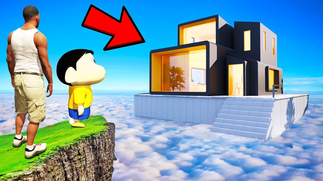 SHINCHAN AND FRANKLIN BUYING THE MOUNTAIN MANSION CHALLENGE GTA 5