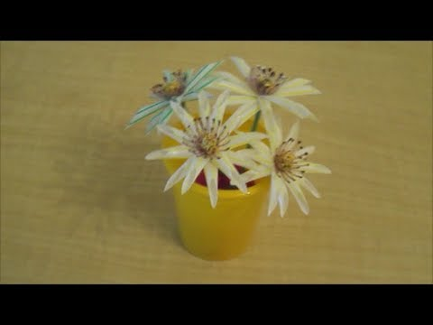 Recycle How To Make Drinking Straw Flowers Youtube