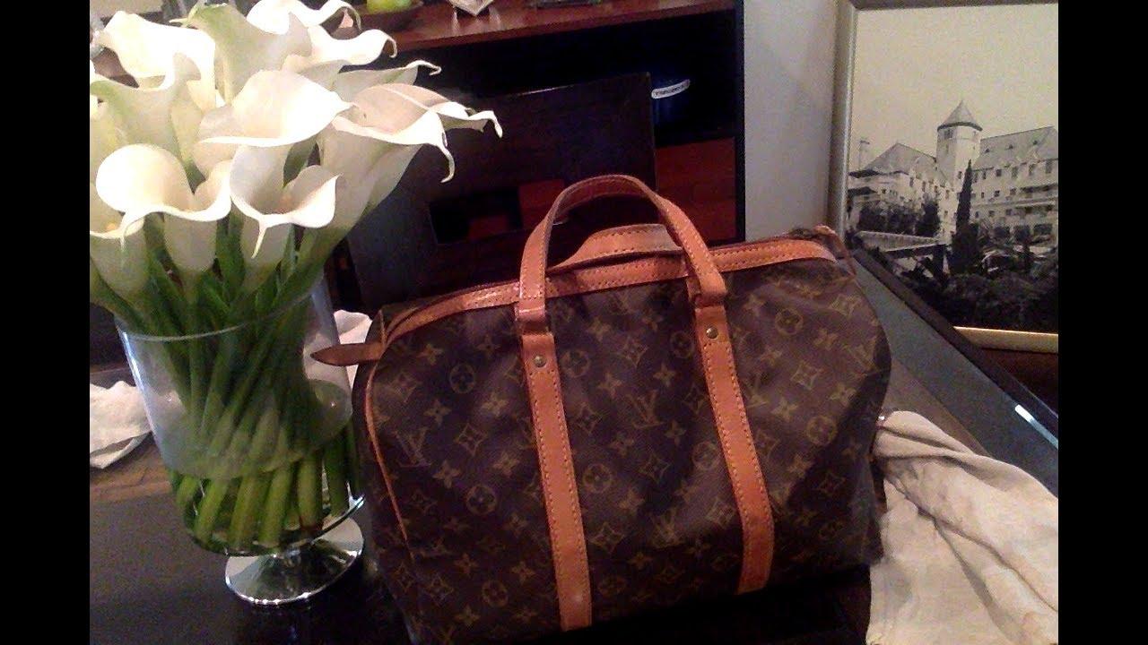 4810c5d81 Louis vuitton SAC SOUPLE 35~Vintage Carryon bag - YouTube