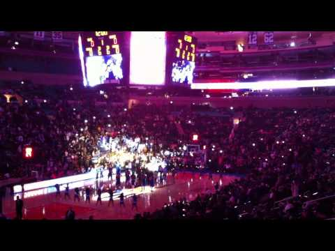 2011-2012 New York Knicks Introduction at MSG