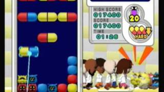 Dr. Mario Online Rx (Wii): Virus Buster; Level 20; Hard