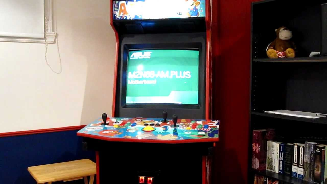 My Hyperspin Custom Arcade Cabinet Youtube