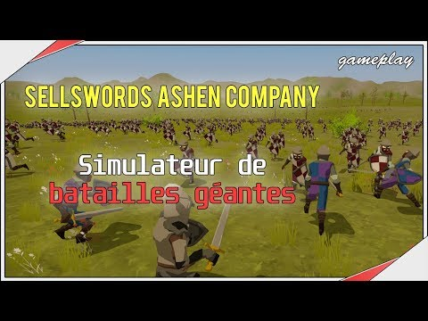 Sellswords Ashen Company | Des batailles IMMENSES ! Découverte gameplay thumbnail