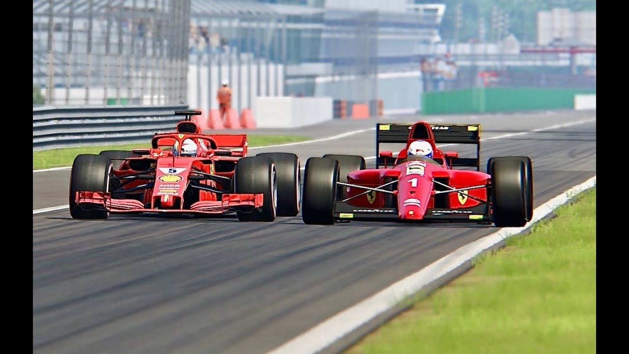 ferrari f1 2018 vs ferrari f1 1990 monza youtube. Black Bedroom Furniture Sets. Home Design Ideas