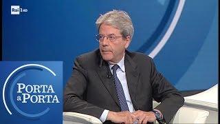 """Paolo Gentiloni: """"Il Governo porta l'Italia all'isolamento"""" - Porta a Porta 20/05/2019"""