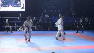Aghayev Rafael (AZE) - Horuna Stanislav (UKR). FINAL. Karate1. Tyumen, April 2013