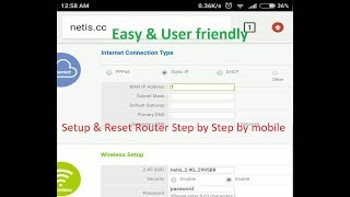 How to Setup/ Reset your Router by Mobile (Netis Router)
