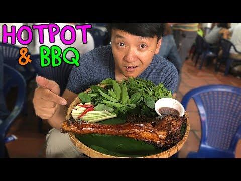 VIETNAMESE Hotpot & BBQ Tour of Saigon Vietnam: PASSION FRUIT Hotpot & WATER BUFFALO BBQ