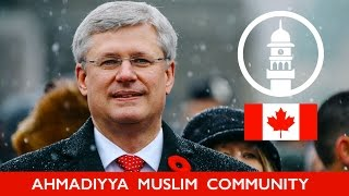 Prime Minister of Canada Stephen Harper about Ahmadiyya Muslim Community