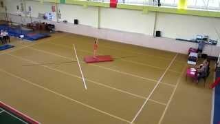 Аня, спортивная гимнастика, вольные упражнения (12.05.2012)
