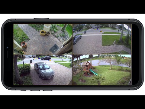 Security Camera System IPhone App View