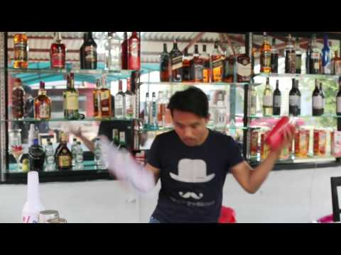 Flair bartender in Nepal by shilas