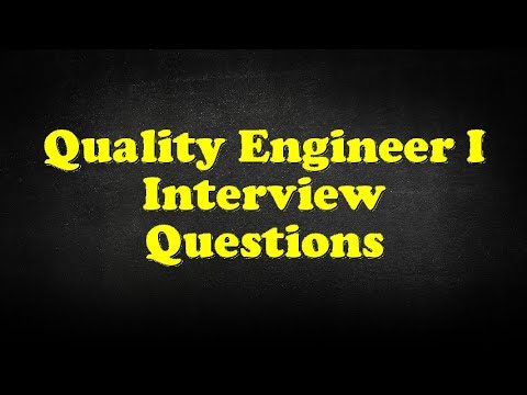 Quality Engineer I Interview Questions YouTube