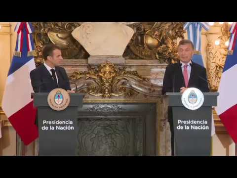 Emmanuel Macron Press Conference With The President of Argentina Mauricio Macri in Buenos Aires