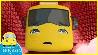 Buster's Stuck at the Carwash - Super Friends to the Rescue! | Go Buster | Baby Cartoons | Single