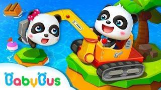 のりもの の なまえ❤はたらくくるま・消防車・救急車・パトカー・飛行機❤乗り物 いっぱい  はたらくくるまランド  赤ちゃんが喜ぶアニメ  動画  BabyBus