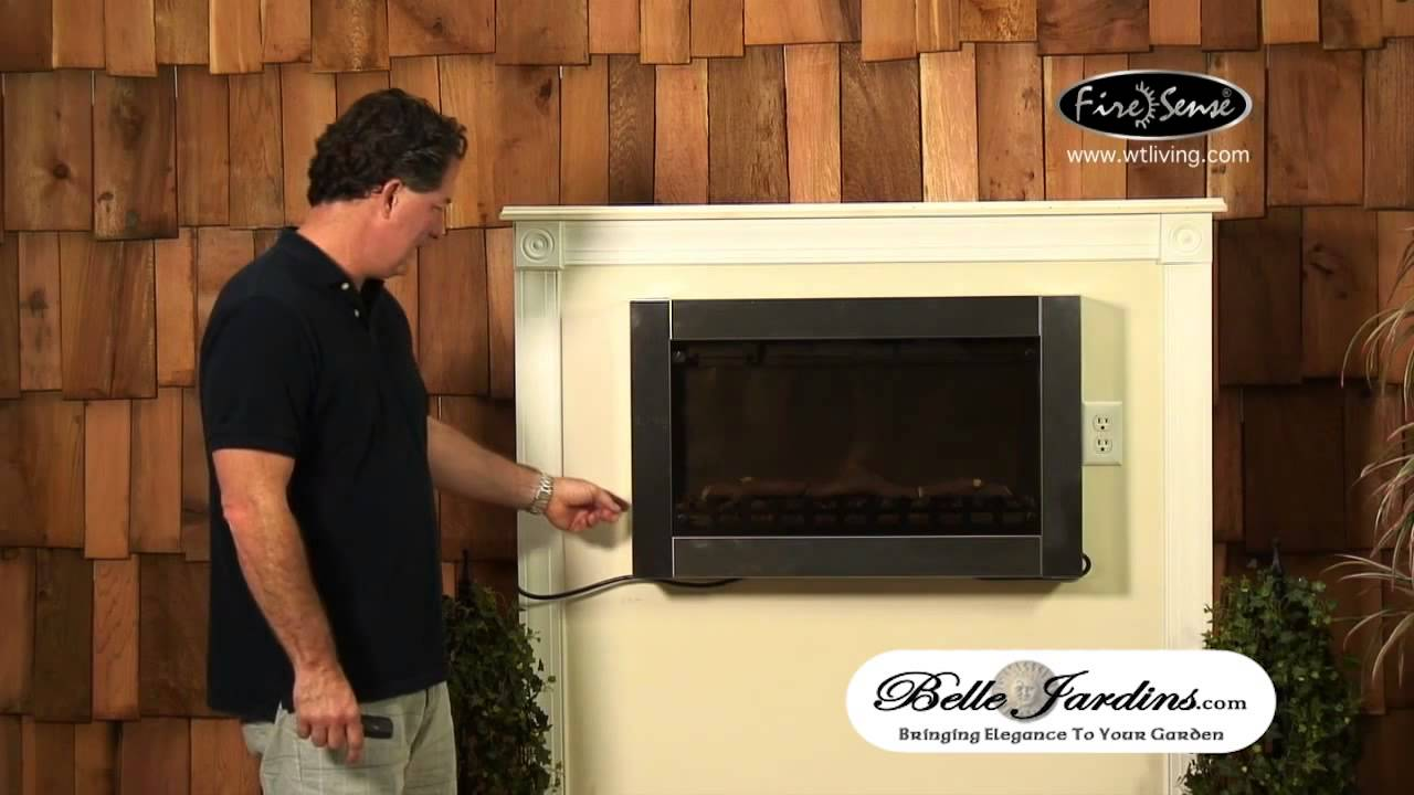 stainless steel wall mounted electric fireplace 12260758 youtube