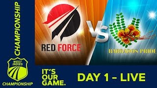 T&T Red Force v Barbados - Day 1 | West Indies Championship | Thursday 17th January 2019