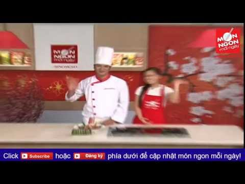 Món ngon mỗi ngày: Cách làm bánh tét lá cẩm ngon