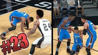 NBA 2k18 MyCAREER - 5x Nasty Ankle Breakers! Westbrook Ankle Injury! Ep. 23
