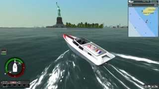 Ship Simulator Extremes Game Play Fortissimo Powerboat Crusing New York Harbor