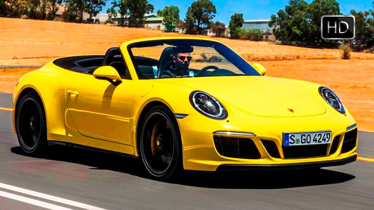 2018 porsche convertible.  convertible 2018 porsche 911 carrera 4 gts cabrio racing yellow design overview u0026 drive  hd and porsche convertible r