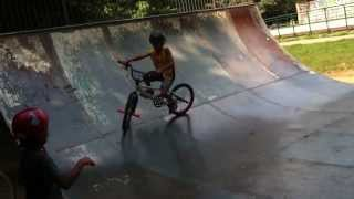 Prima rampa di Pietro in BMX